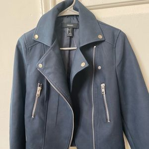 Matte leather jacket